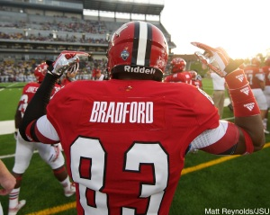 Senior wide receiver Mike Bradford