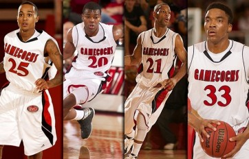 Seniors Rod McReynolds (25), Giovanni Smith (20), Brian Williams (21), Nick Cook (33)