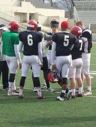 Quarterbacks Eli Jenkins, Tyler Vann (6), Christian LeMay (5), Ryne Strickland (7), Max Shortell (11) Tyler Will (12),
